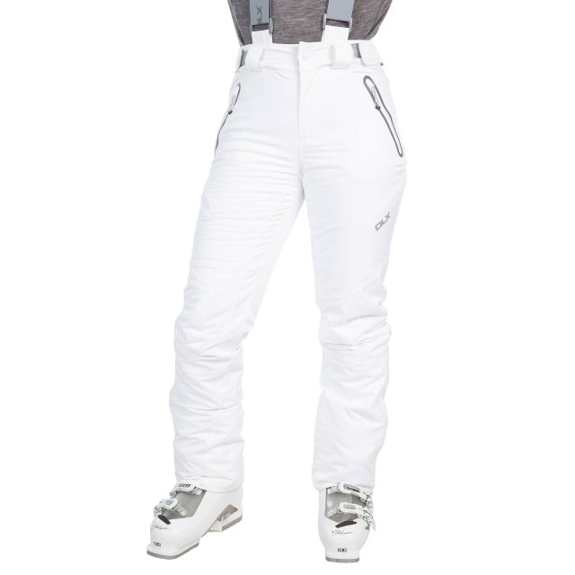 Marisol Women's DLX Waterproof Ski Trousers in White