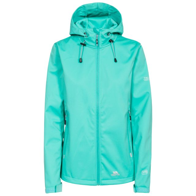 Marsa Women's Breathable Hooded Softshell Jacket in Light Blue