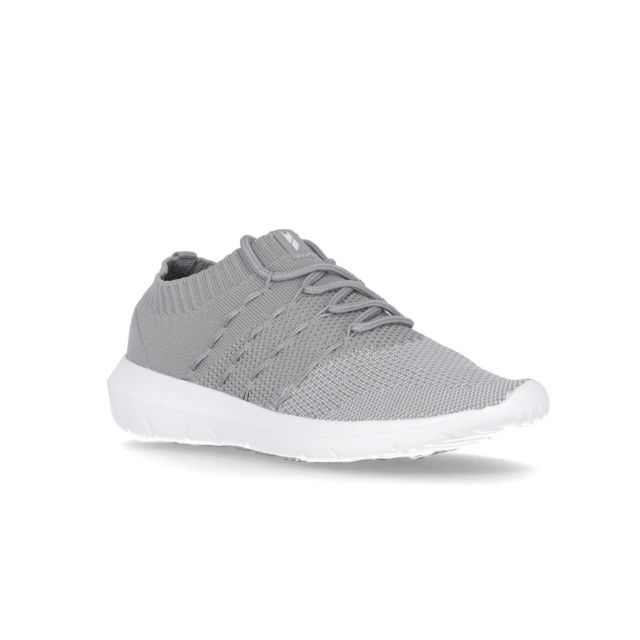 Massie Women's Knitted Memory Foam Trainers in Grey