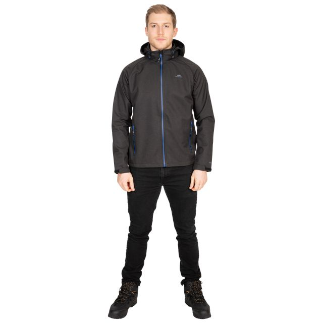 Maverick Men's Water Resistant Softshell Jacket in Black