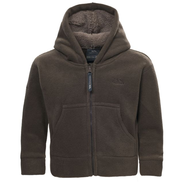 Alejandro Babies' Full Zip Fleece Hoodie in Brown