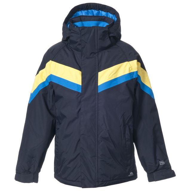 Kennedy Boys' Padded Waterproof Ski Jacket - Black in Black