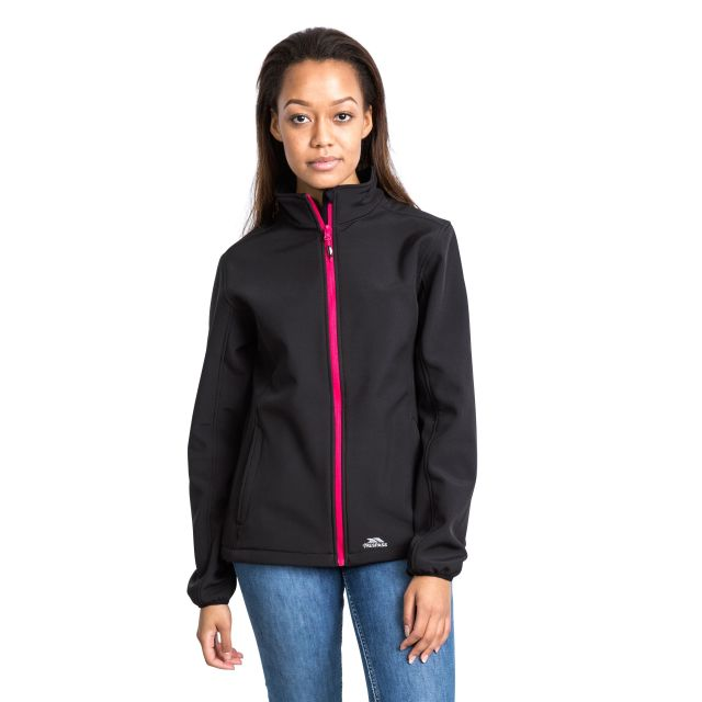 Meena Women's Softshell Jacket in Black