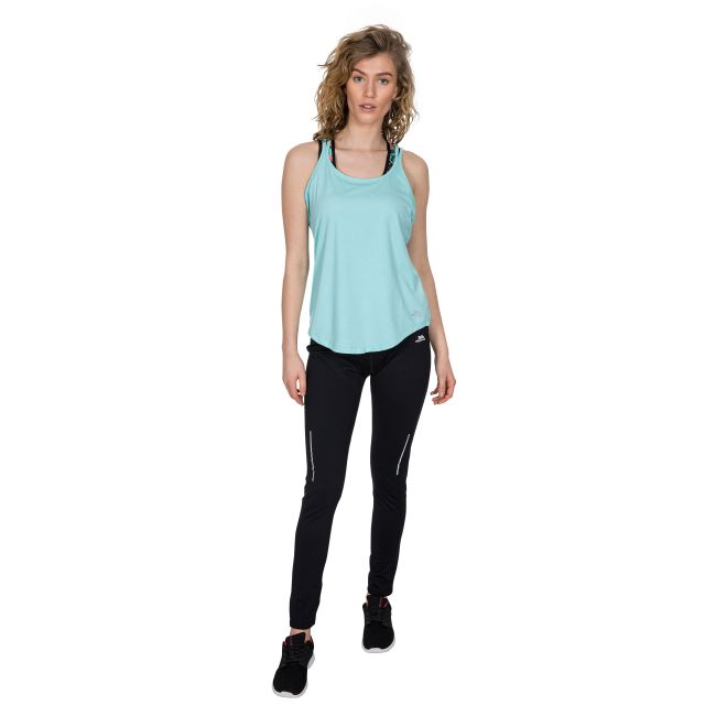 Meghan Women's Sleeveless Active T-shirt in Light Blue