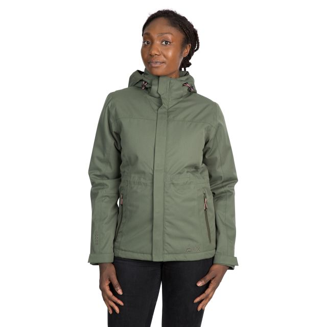 DLX Womens Waterproof Jacket Padded Mendell in Green