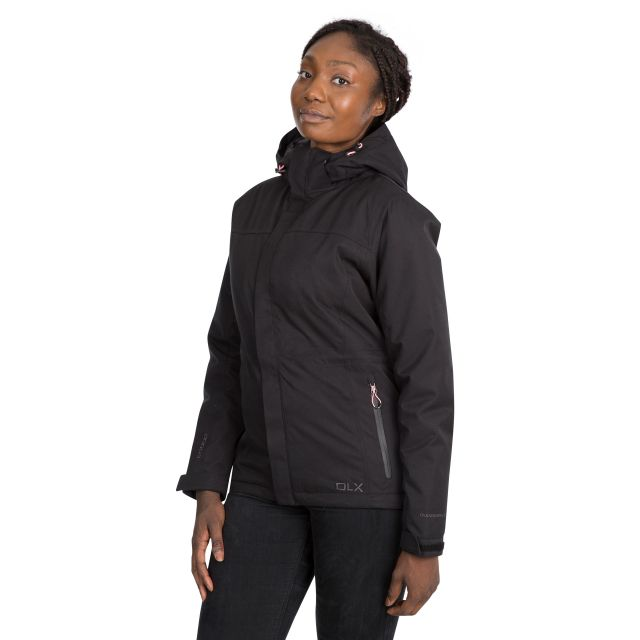 DLX Womens Waterproof Jacket Padded Mendell in Black