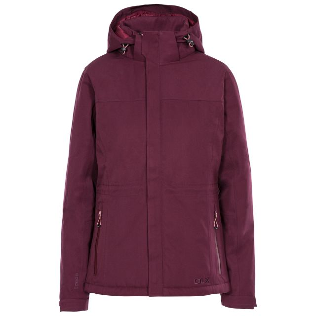 DLX Womens Waterproof Jacket Padded Mendell in Purple