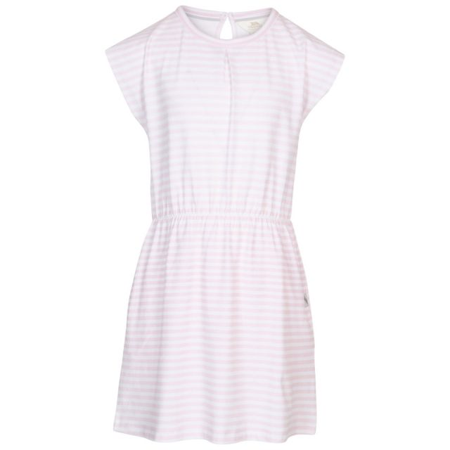 Mesmerised Kids' Short Sleeve Dress in Light Pink