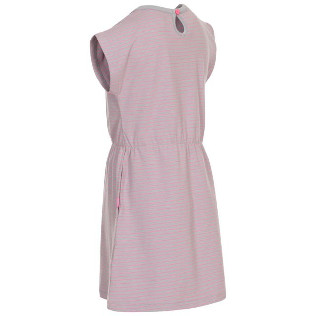 Mesmerised Kids' Short Sleeve Dress in Platinum Flamingo