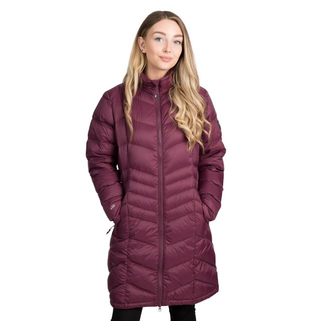 Trespass Womens Down Jacket Lightweight Micaela in Purple