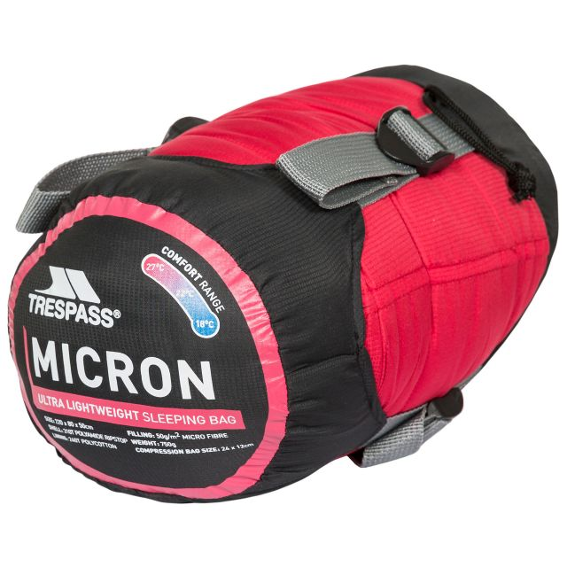 Micron Sleeping Bag in Red