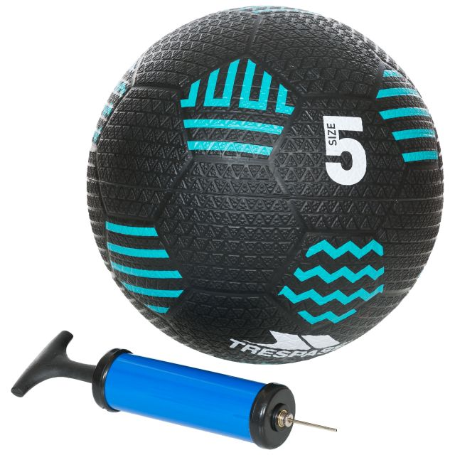 Kids Indoor and Outdoor Inflatable Rubber Football with Pump in Black