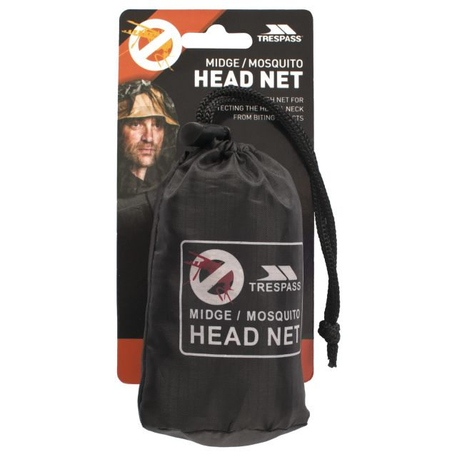 Head and Neck Mosquito Net in Black