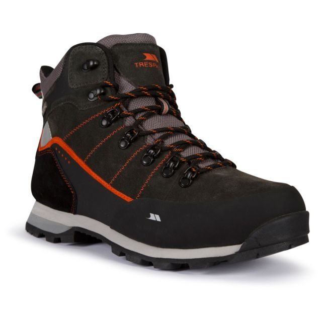 Trespass Mens Waterproof Walking Boots Comfortable Mikeba Charcoal