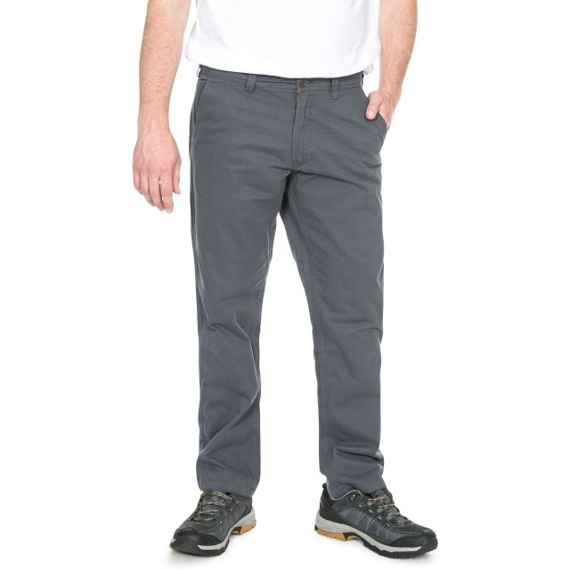 Milium Men's Chino Trousers in Grey