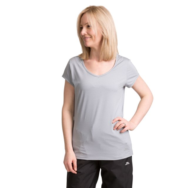Mirren Women's Quick Dry Active T-Shirt in Grey