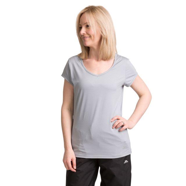 Mirren Women's Quick Dry Active T-Shirt in Grey