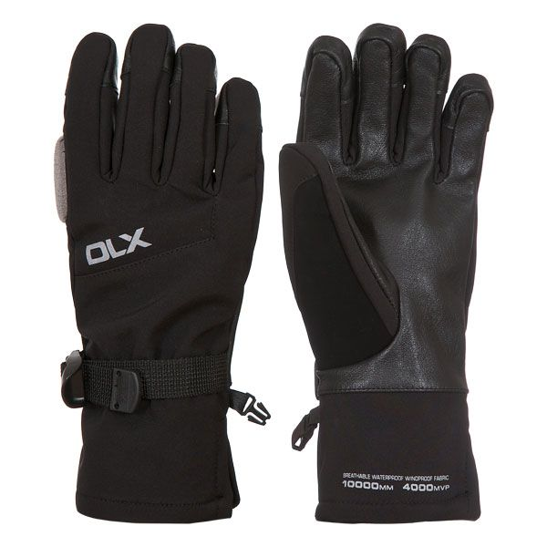 Misaki II Unisex DLX Waterproof Ski Gloves in Black
