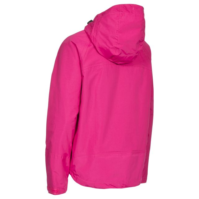 Miyake Women's Hooded Waterproof Jacket in Pink