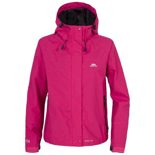 Trespass Womens Waterproof Jacket Hooded Miyake in Sangra Pink