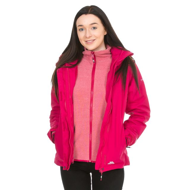 Madalin Women's Hooded 3 in Pink