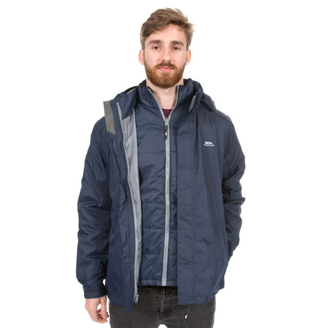 Pembroke Men's 3-in-1 Waterproof Jacket  in Navy
