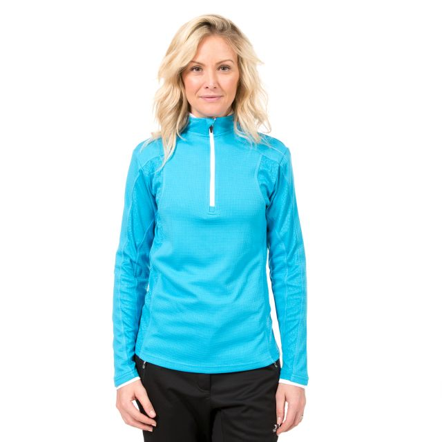 Ollog Women's 1/2 Zip Long Sleeve Active Top in Blue