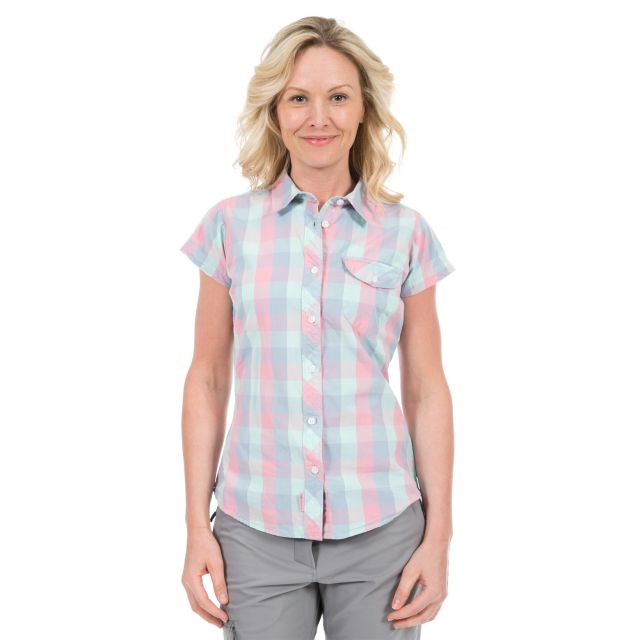 Eriko Women's Short Sleeve Checked Shirt