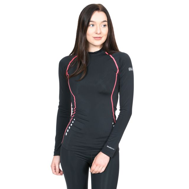 Dasha Women's DLX Long Sleeve Thermal T-shirt in Black