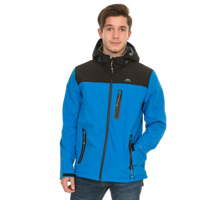 Hebron Men's Softshell Jacket in Blue
