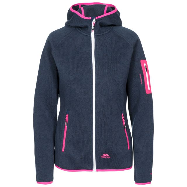 Mona Lisa Women's Full Zip Fleece Hoodie in Navy