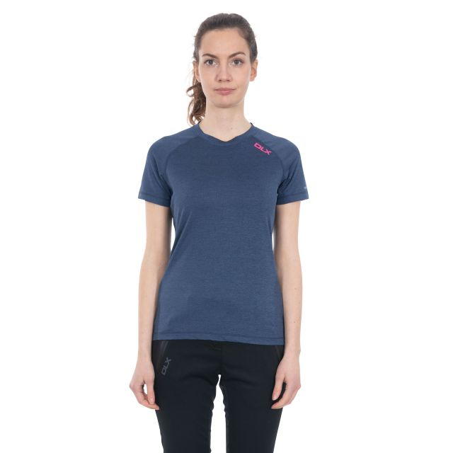 Monnae Women's DLX Quick Dry Active T-shirt in Navy