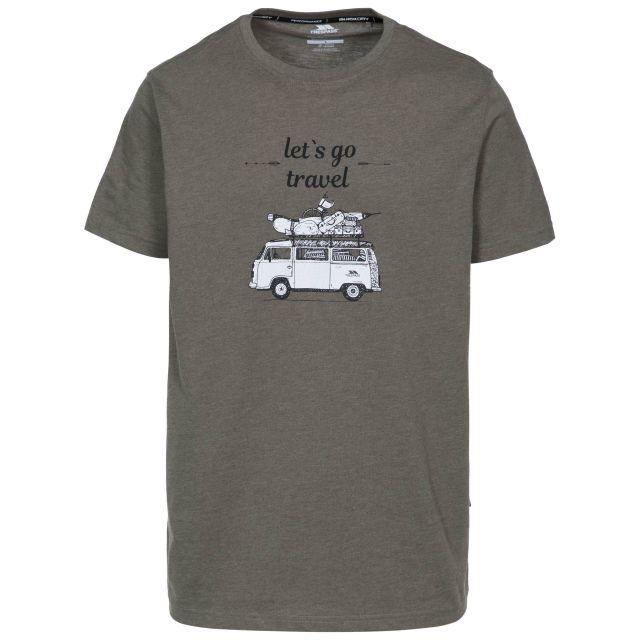 Motorway Men's Printed Casual T-Shirt in Khaki