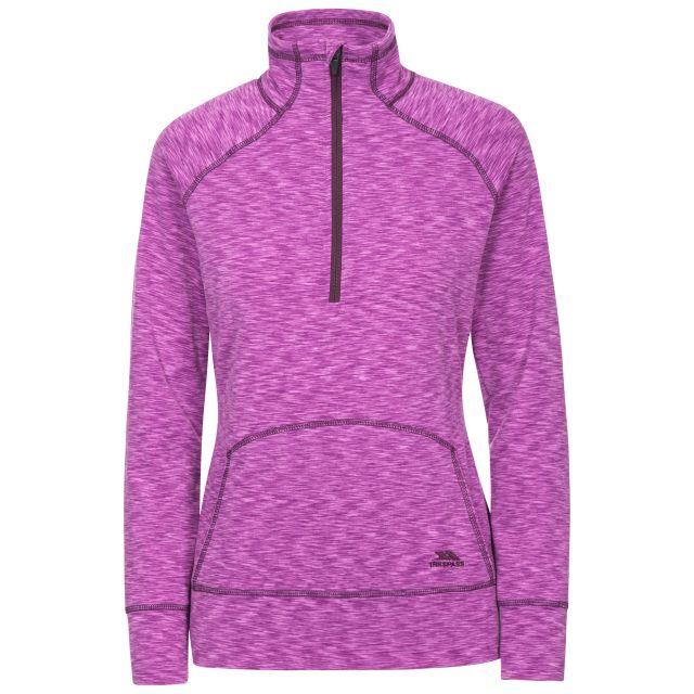 Moxie Women's 1/2 Zip Long-Sleeve Top in Purple