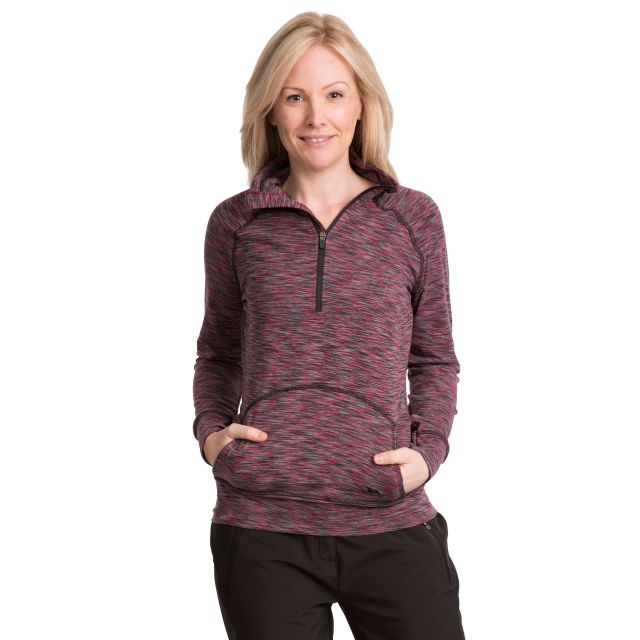 Moxie Women's 1/2 Zip Long-Sleeve Top in Pink