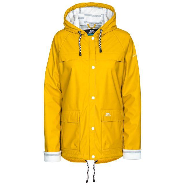 Trepass Womens Waterproof Jacket Hooded Muddle in Yellow