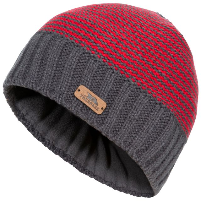 Mumford Kids' Beanie Hat in Grey, Hat at angled view
