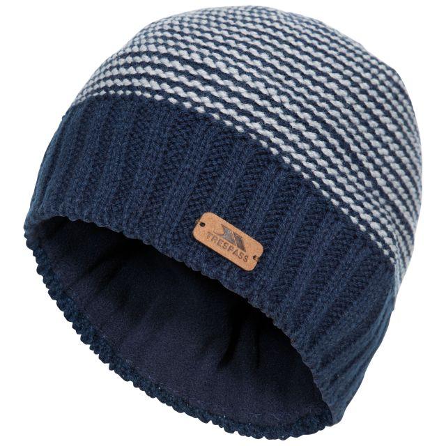 Mumford Kids' Beanie Hat in Navy, Hat at angled view