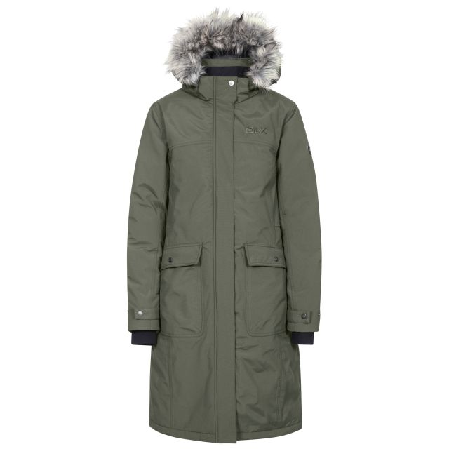 DLX Womens Down Jacket Waterproof Munros in Khaki