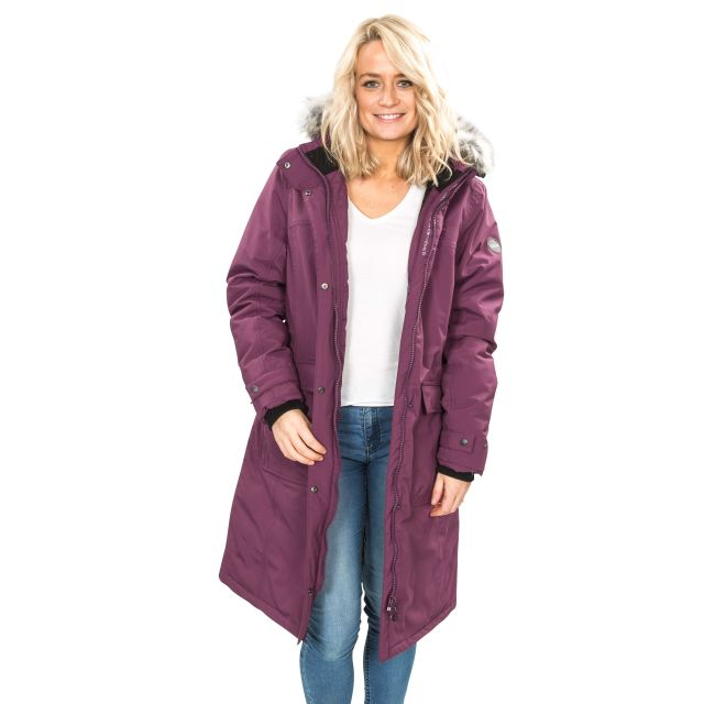 DLX Womens Down Jacket Waterproof Munros in Burgundy