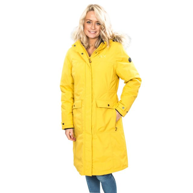 Munros Women's DLX Waterproof Down Jacket in Yellow