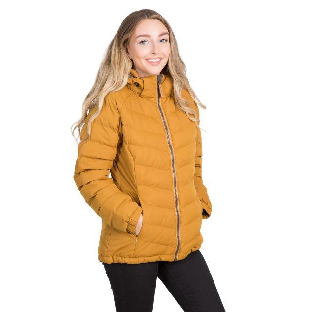 Trespass Womens Padded Jacket Hooded Nadina Yellow