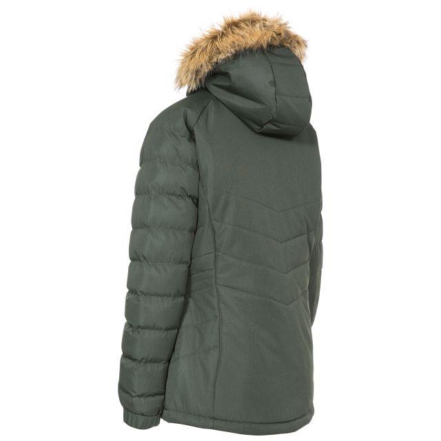 Nadina Women's Padded Hooded Casual Jacket in Khaki