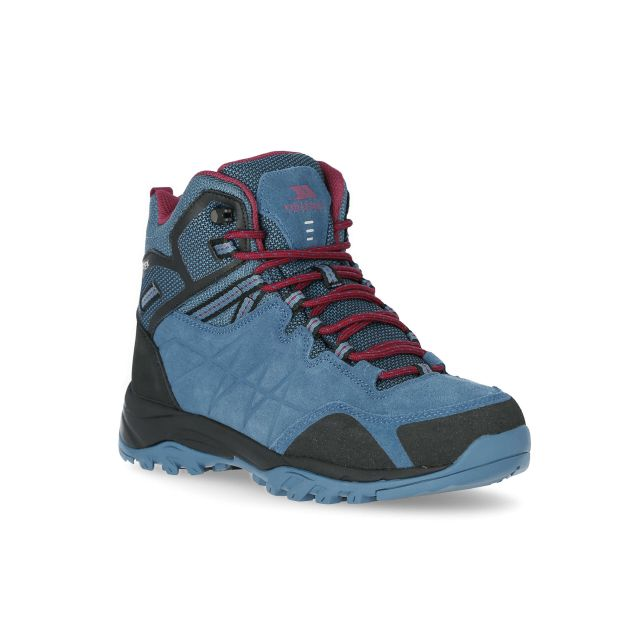 Trespass Womens Walking Boots Waterproof Suede Nairne Teal