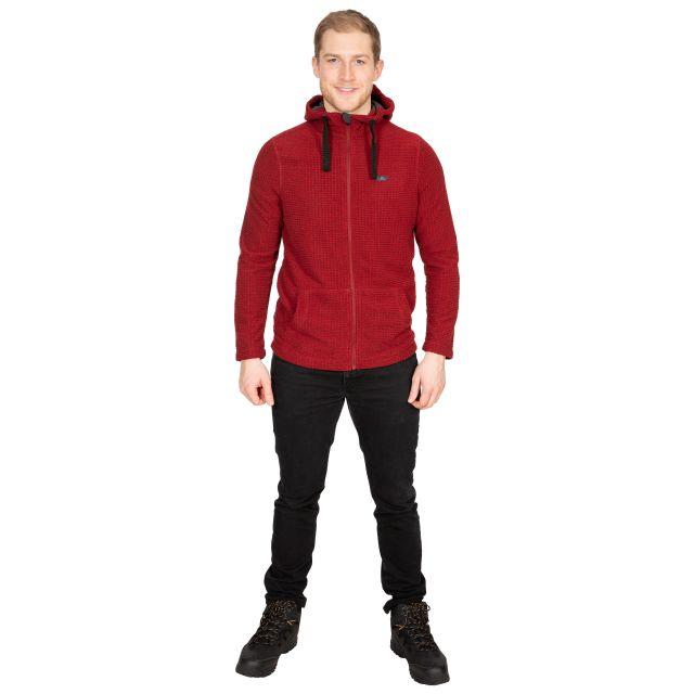 Napperton Men's Hooded Fleece Jacket in Red