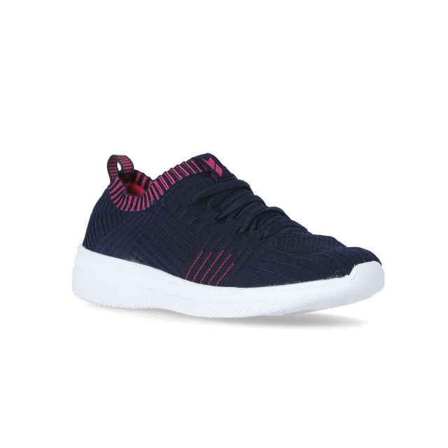 Nash Women's Knitted Memory Foam Trainers in Navy