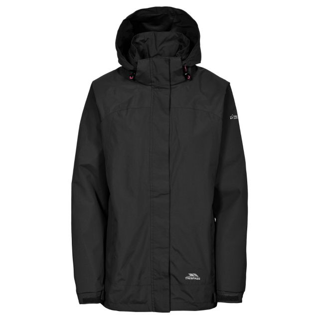Trespass Womens Waterproof Jacket Nasu II in Black