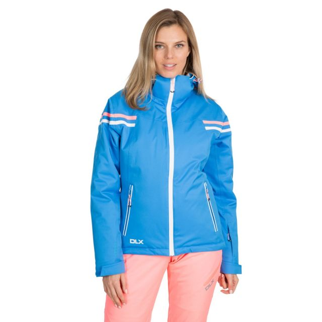 DLX Womens Waterproof Ski Jacket Recco Natasha in Blue