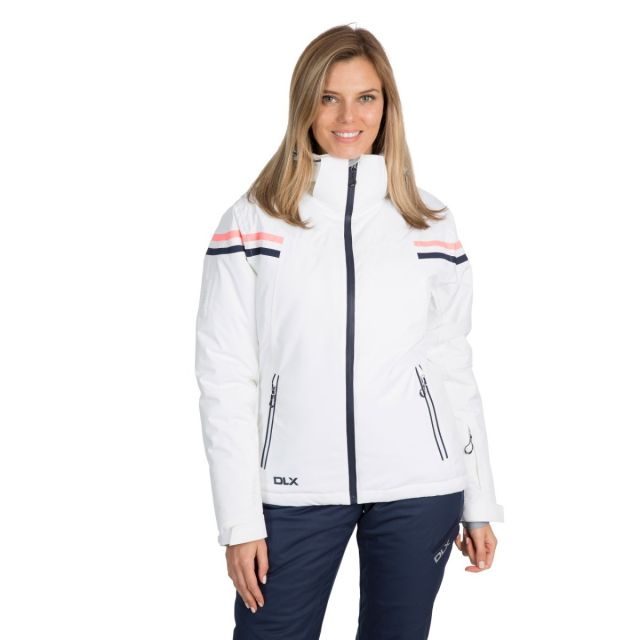 DLX Womens Waterproof Ski Jacket Recco Natasha in White