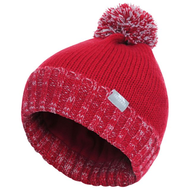 Nefti Kids' Bobble Hat - RED